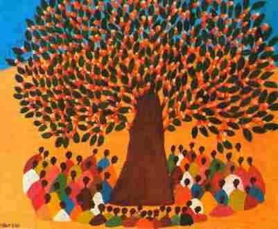 Arbre-à-palabre-MBOR-FAYE-1900-1984-Sénégal